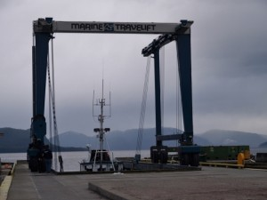 Wrangell's Marine Travelift - Photo by Shady Grove Oliver/KSTK News