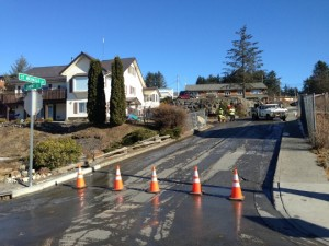 Water main breaks on St. Michaels Street - Photo by Shady Grove Oliver/KSTK