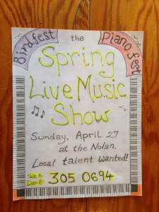 Spring live music show poster - Photo by Shady Grove Oliver/KSTK