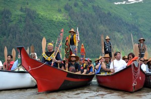 canoers paddle to celebration 2014 in juneau