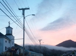 Power lines in Wrangell. (Katarina Sostaric/KSTK)