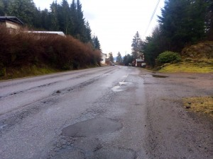 Evergreen Avenue in Wrangell