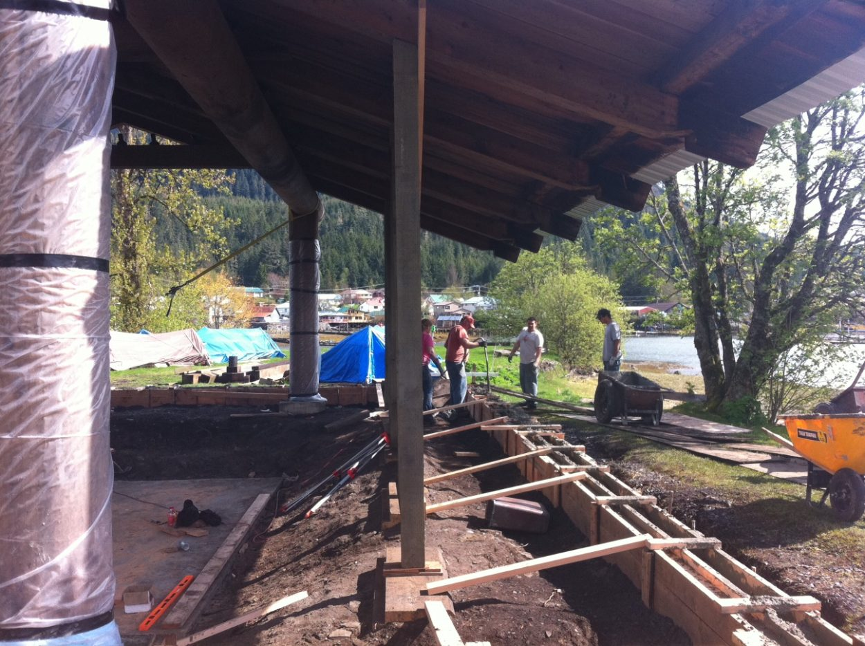 Tribal house gets new foundation