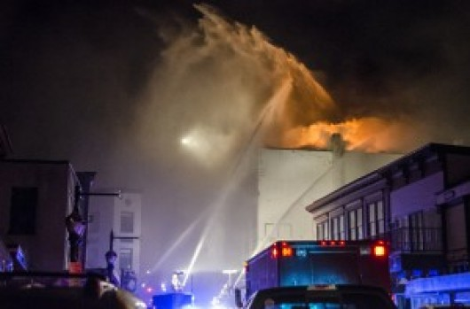 Apartment building fire closes downtown Juneau