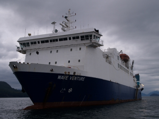 On board the Wave Venture, Alaska's cable repair ship