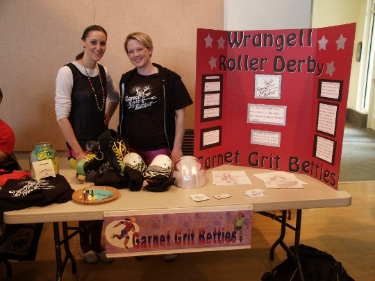 Postcard: Garnet Grit Betties, Hannah's Place, Arbonne at Health Fair