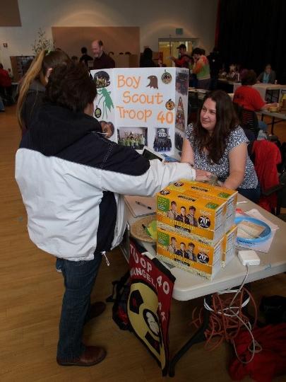 Postcard: Boy Scouts at Health Fair