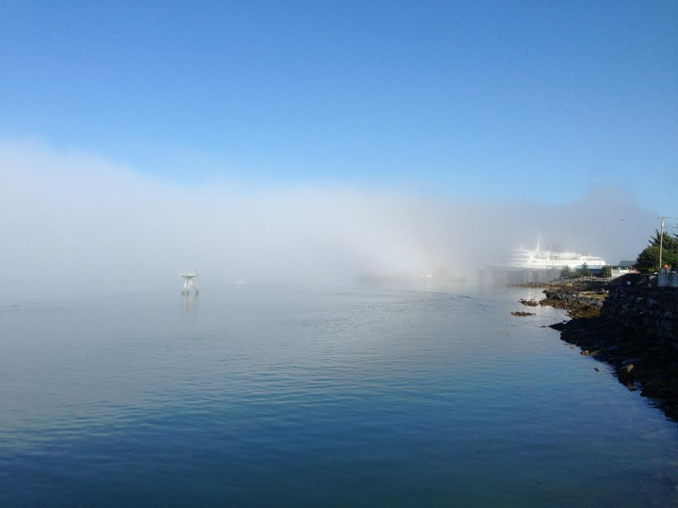 Marine layer goes hand in hand with heat