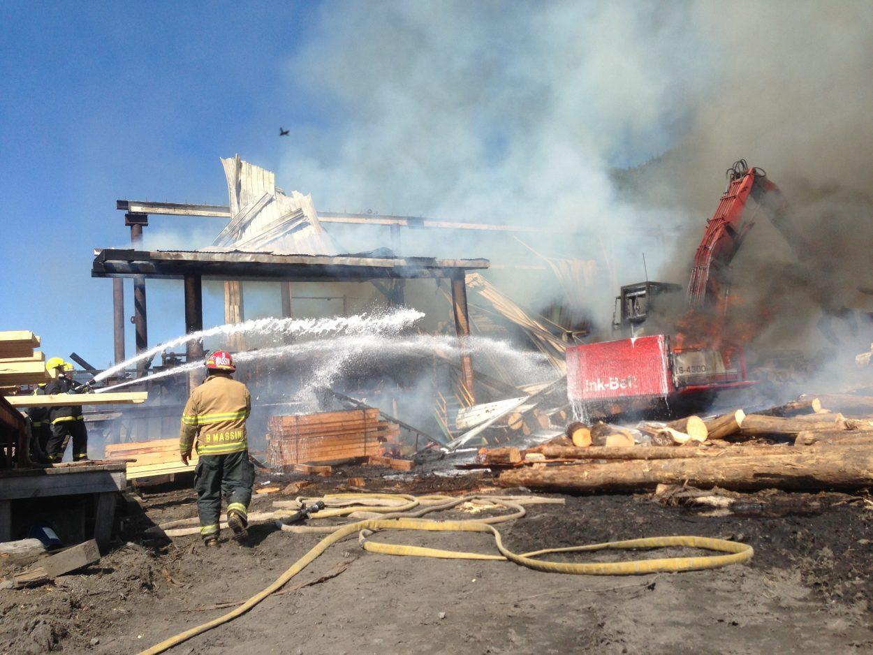 Mike Allen mill burns down