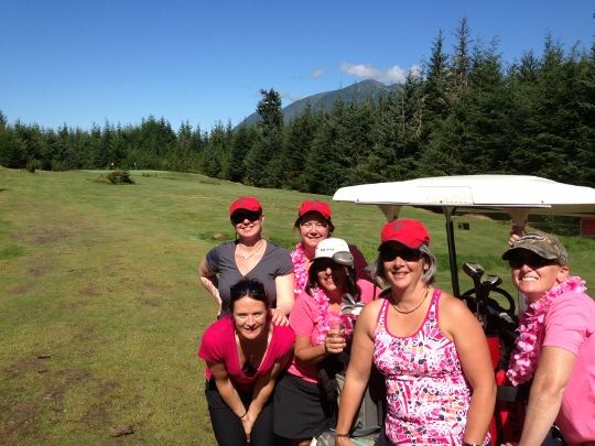 Ladies, mimosas, and golfing for cancer care