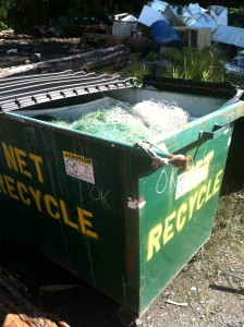 Nets have been brought to the new recycling bin at the Wrangell landfill. (Trevor Kellar/WCA)