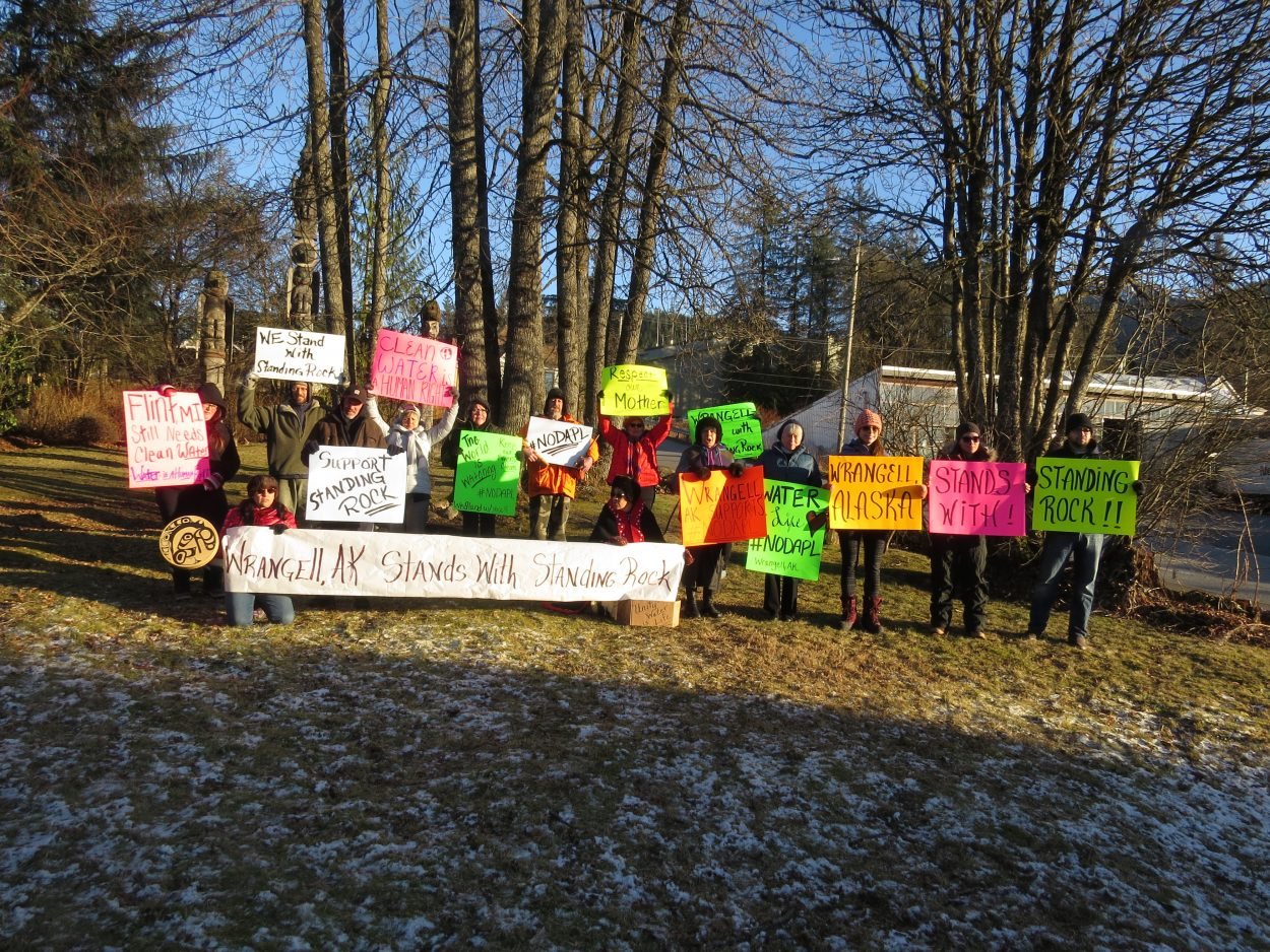 Wrangell residents stand with Standing Rock