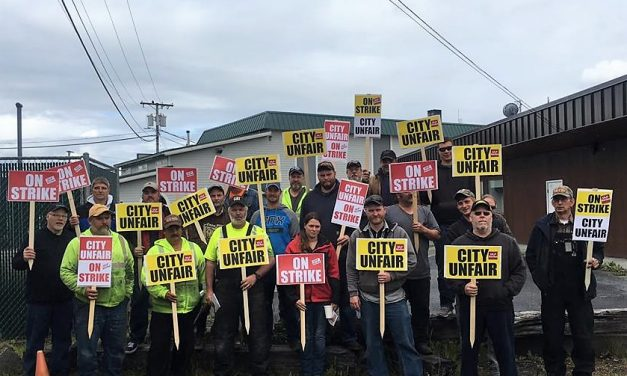 Update: Wrangell municipal workers hit the picket line