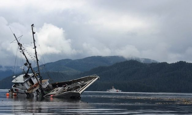 Coast Guard, state finish cleanup of grounded fishing boat near Wrangell