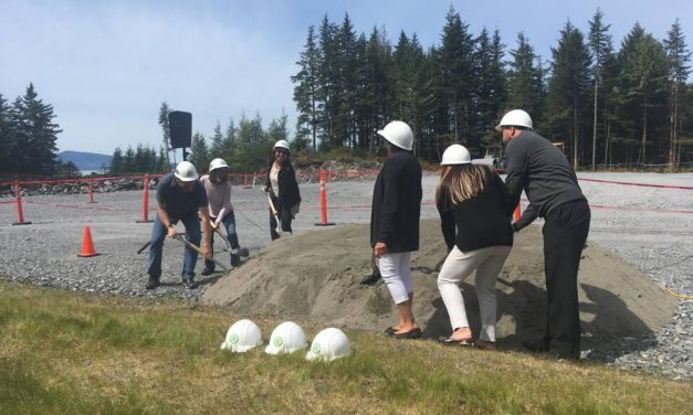 Groundbreaking at soon-to-be SEARHC hospital in Wrangell